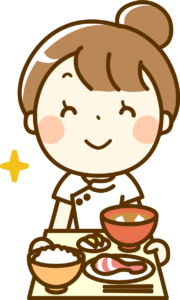 バランスのとれた食事と栄養士さん